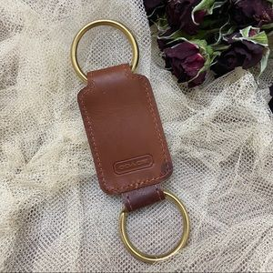 Coach • 1980's Leather Key Fob